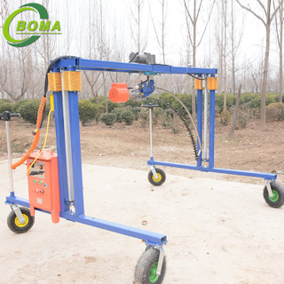 Multifunctional Frame Adjustable in Height Cropping Machine for Plant Fields and Green Houses