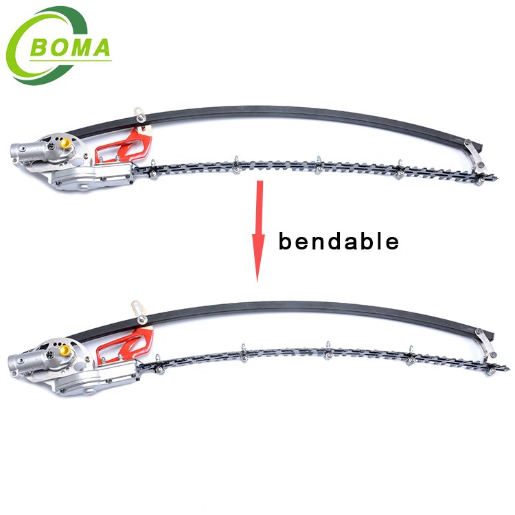 Unique 500w Cordless Long Pole Hedge Trimmer with Double Blades for Shearing Bushes