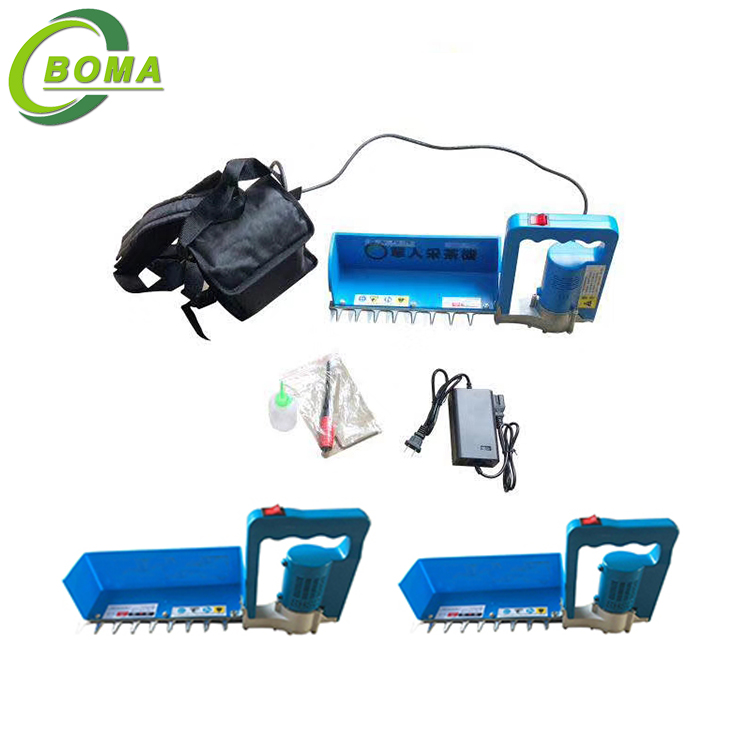 The Newest Battery Powered Tea Leaf Plucking Machine Developed by BOMA Company